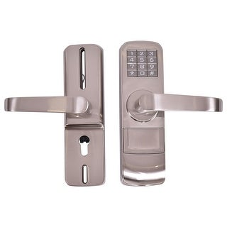 Gymax Door Lock Digital Electronic Code Keyless Keypad Security - Sliver