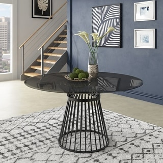 Link to Sheeba Round Caged Metal Base Dining Table by iNSPIRE Q Modern Similar Items in Dining Room & Bar Furniture