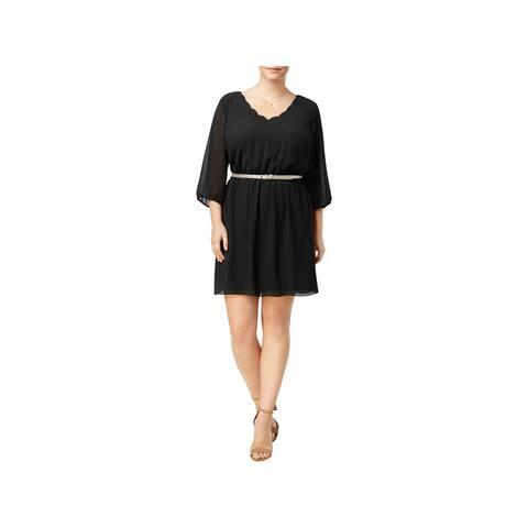 BCX Womens Plus Party Dress A-Line Knee-Length