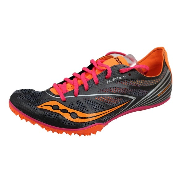 ... Women's Athletic Shoes. Saucony Women's Endorphin MD4 Silver/Orange-Pink  ...