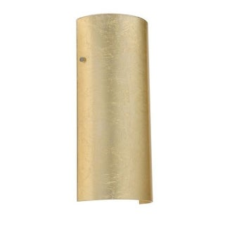 Besa Lighting 8192GF-LED Torre 1 Light ADA Compliant LED Wall Sconce with Gold Foil Glass Shade