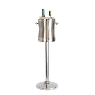 Shop Maroxx Champagne/Wine Cooler   The Luxury No Drip Stainless Steel Ice  Bucket U0026 Stand   Free Shipping Today   Overstock.com   18526598