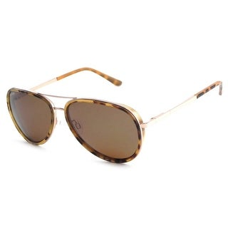 Peppers Polarized Sunglasses Luna Gold with Tortoise Rim with Brown Lens