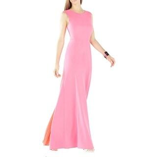BCBG Max Azria Womens Izabelle Evening Dress Pleated Back Sleeveless