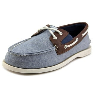 Sperry Top Sider A/O Slip On Moc Toe Canvas Boat Shoe
