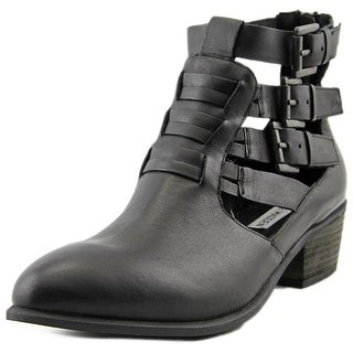 Steve Madden Roofus Round Toe Leather Bootie