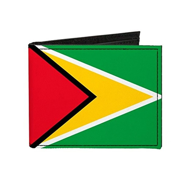 Buckle-Down Canvas Bi-fold Wallet - Guyana Flag Accessory