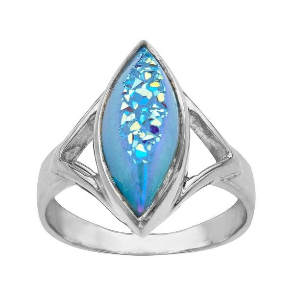 Sajen Paraiba Blue Druzy Ring in Sterling Silver