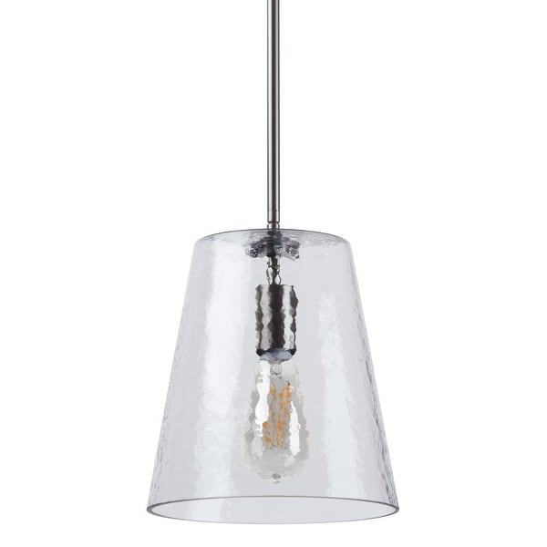 "Miseno MLIT157681 1 Light 9.25"" Wide Pendant with Hammered Glass Shade"