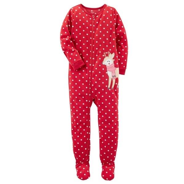 697af96cb Shop Carter s Baby Girls  1 Piece Reindeer Fleece Pajamas