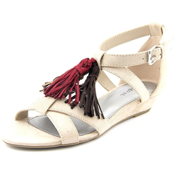 Indigo Rd. Nandy Women Open Toe Suede Brown Wedge Sandal