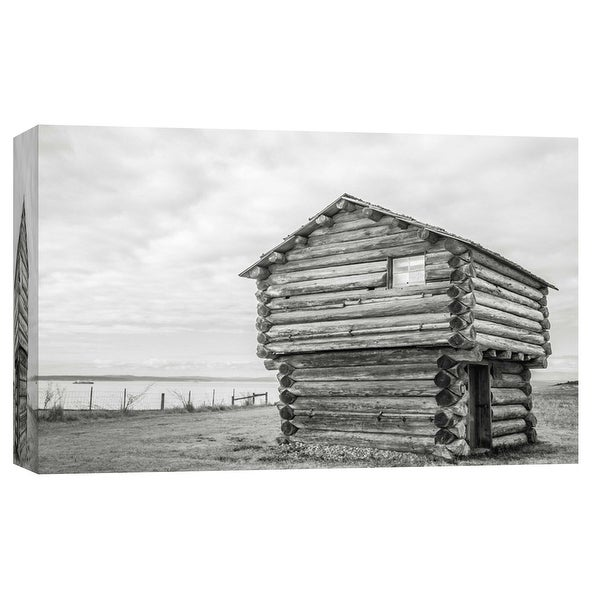"PTM Images 9-101755 PTM Canvas Collection 8"" x 10"" - ""Jacob Ebey Blockhouse, Whidbey Island"" Giclee Houses Art Print on Canvas"