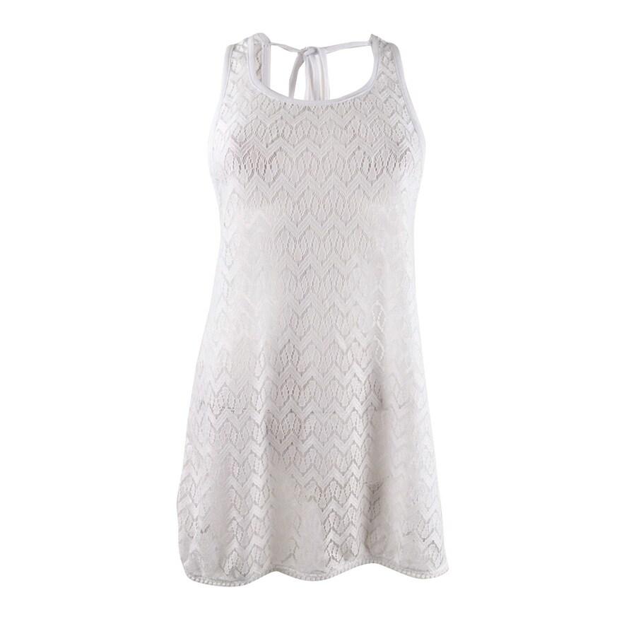 Miken Womens Crocheted Dress Swim Cover-Up