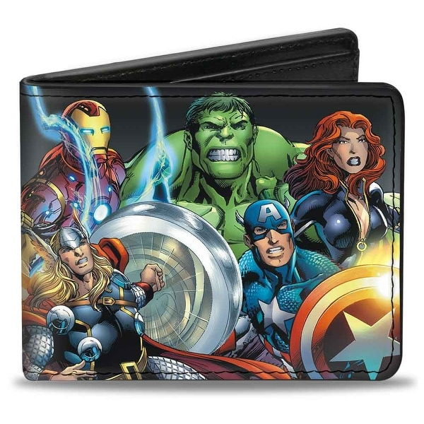 Marvel Universe Marvel Universe Avengers Group Pose Black Bi Fold Wallet - One Size Fits most