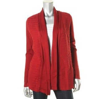 Lucky Brand Womens Textured Long Sleeves Cardigan Sweater