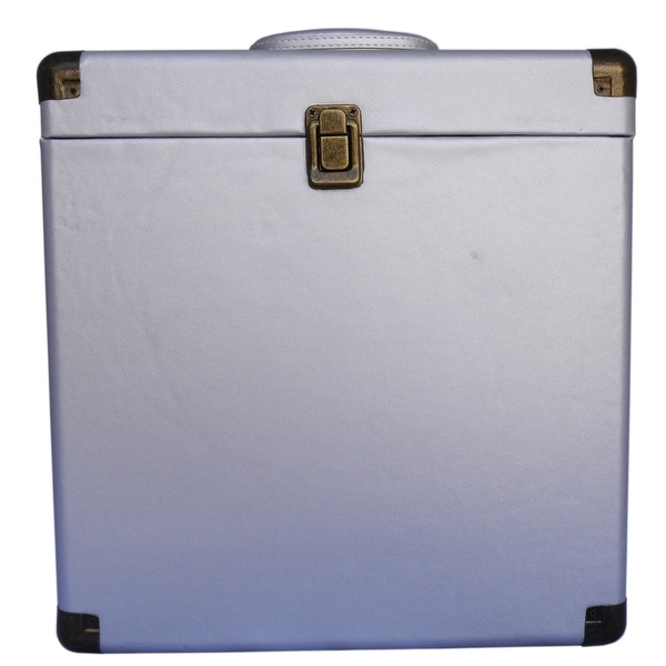 TechPlay IEP40 GR, Retro Record Carrying Case for Albums (Silver