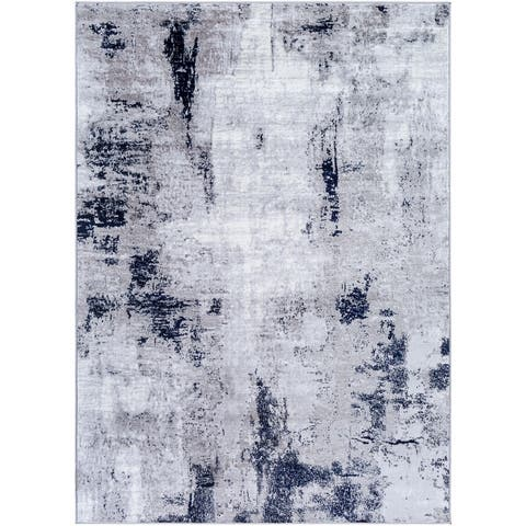 Cooke Industrial Abstract Polyester Area Rug