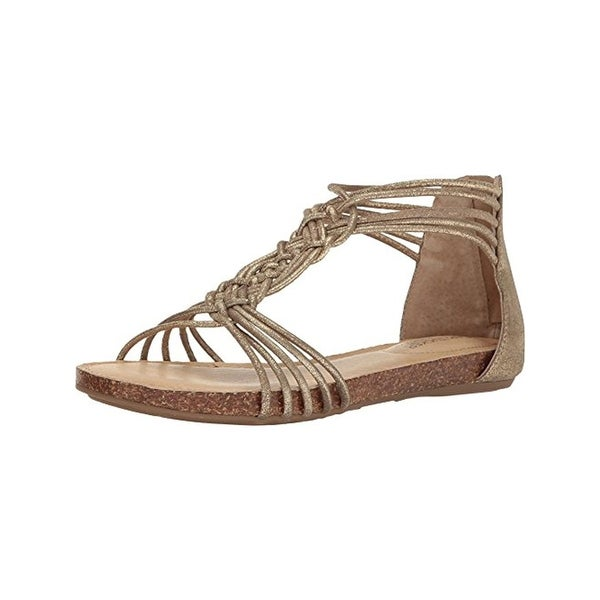b3678fbd505 Shop Adam Tucker Me Too Womens Cali 16 Flat Sandals Shimmer Cork ...