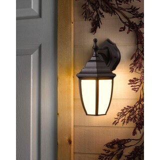Vintage Style Frosted Glass Outdoor Sconces, LED Outdoor Wall Lantern, 3000K Warm White