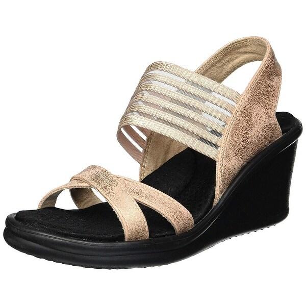 caec20deaf3f Shop Skechers Cali Women s Rumblers-Glam Society Wedge Sandal