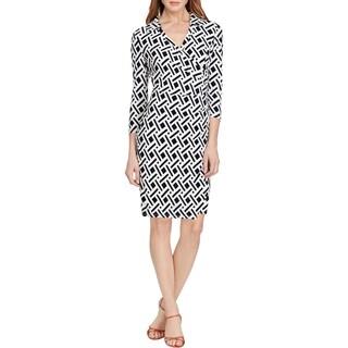 American Living Womens Wear to Work Dress Printed 3/4 Sleeves