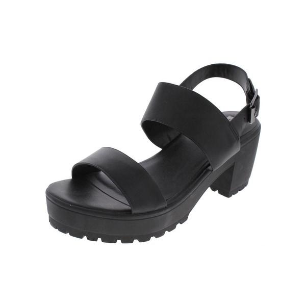 Steve Madden Womens Gelato Platform Sandals Open Toe Slingback