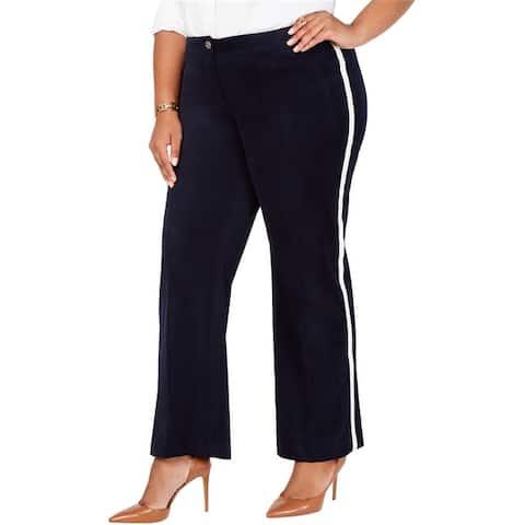 Tommy Hilfiger Womens Varsity Stripe Casual Trouser Pants