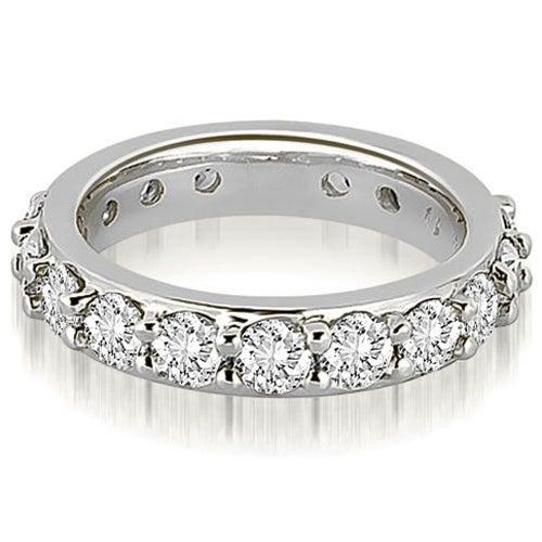 2.70 cttw. 14K White Gold Round Diamond Eternity Ring