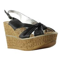 Fergalicious Womens Black T-Strap Sandals Size 11