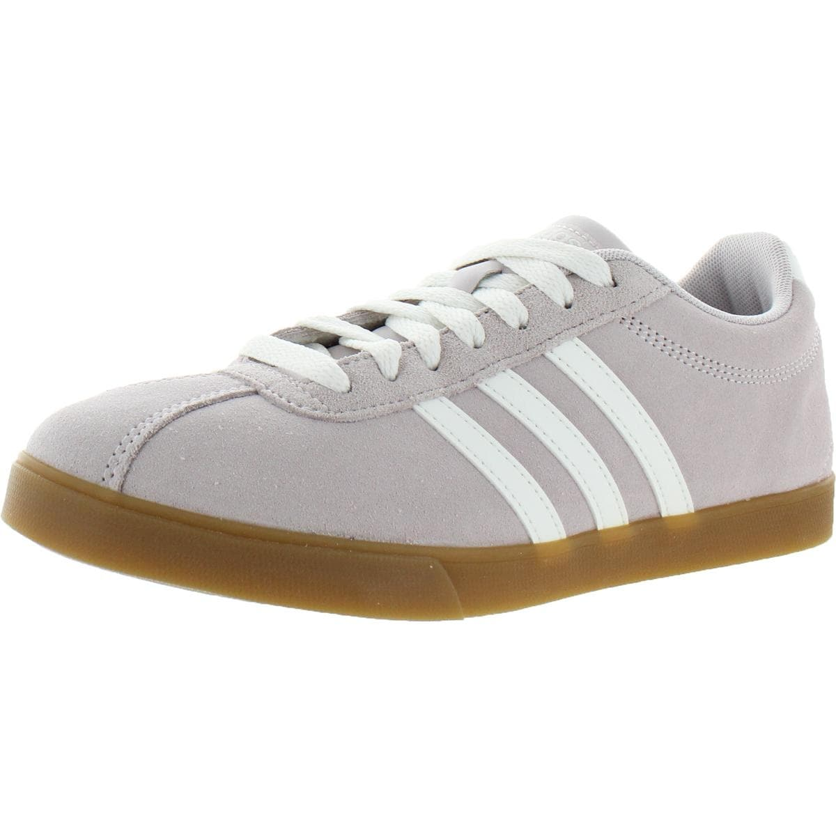 Adidas Womens Courtset Tennis Shoes Suede Ortholite Float