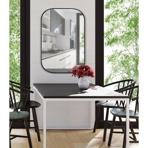 Kate and Laurel Rollo Decorative Framed Wall Mirror