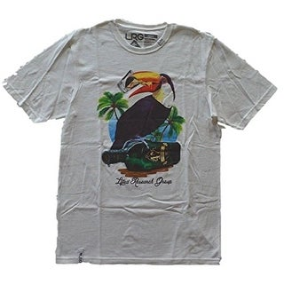 LRG Lifted Research Group Parrot Tee (Small, White) - White - Small