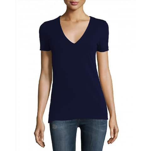 James Perse Navy VNeckShort Sleeve TShirt