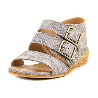 Eric Michael NEW Gray Women's Shoes Size 8M Noriko Leather Sandal