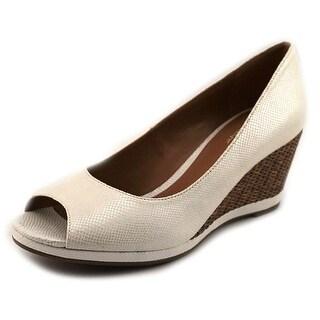 Naturalizer Narlene Women N/S Open Toe Synthetic White Wedge Sandal