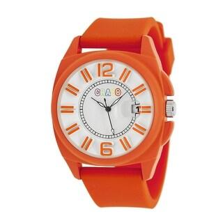 Crayo Sunset Unisex Quartz Watch, Silicone Strap