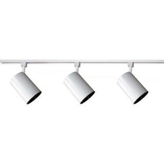 """Volume Lighting V2732 Track Light 3-Light 48"""" Track Kit with Flat Back Track Heads - White"""