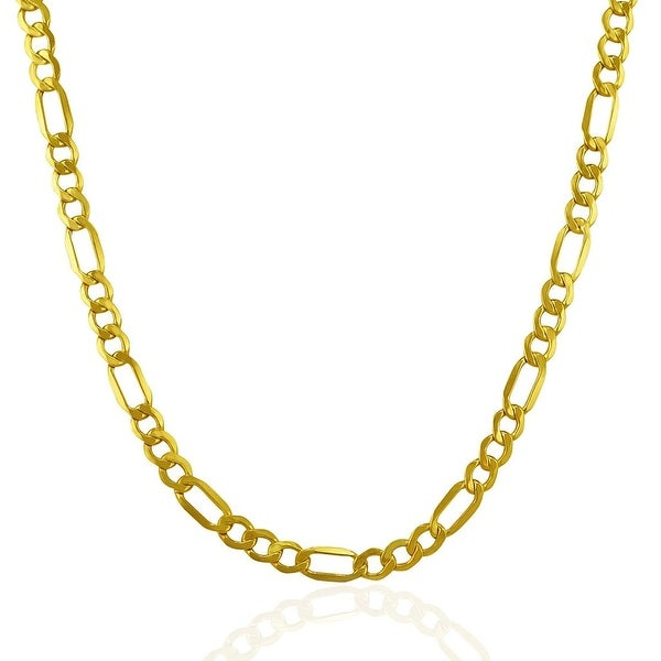 Mcs Jewelry Inc 14 KARAT YELLOW GOLD LIGHTWEIGHT FIGARO CHAIN NECKLACE (4.6MM)