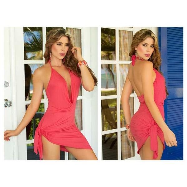 5fe4846b667de AM PM Female Mapale Resort 2018-1 Casual Dress, Coral - Large