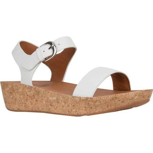 ee565f8cc Shop FitFlop Women s Bon II Two Piece Sandal Urban White Leather ...