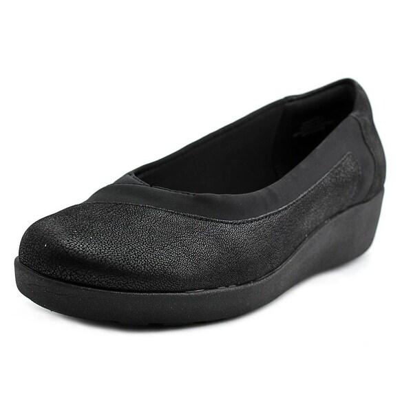 Easy Spirit e360 Kathleen Women WW Round Toe Canvas Black Loafer