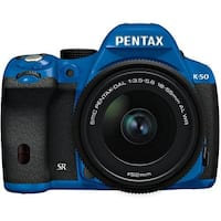 Pentax K-50 Digital SLR Camera with 18-55mm f/3.5-5.6 Lens (Blue/Black) 09884
