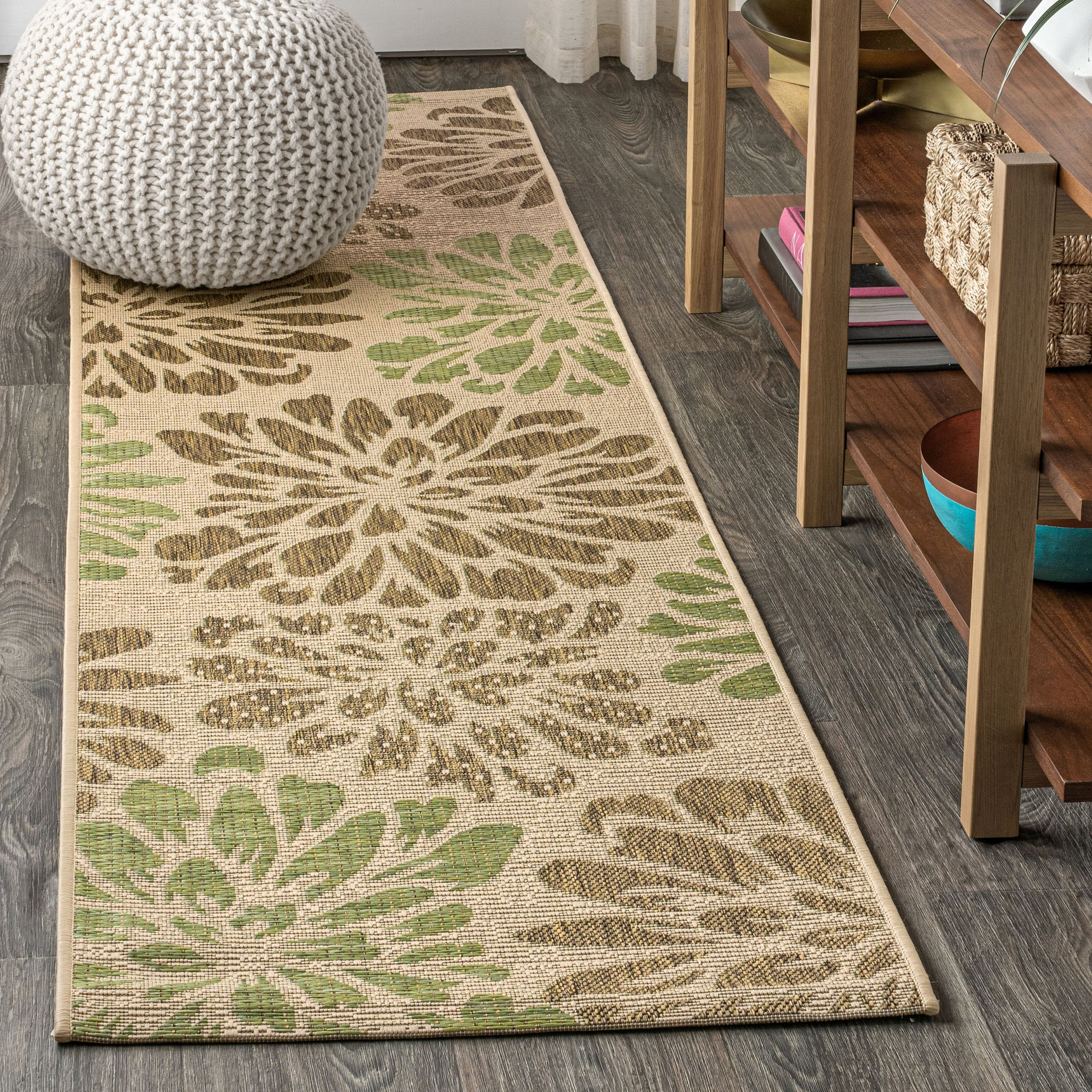 Zinnia Modern Floral Textured Weave Indoor Outdoor Area Rug Overstock 28416046