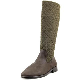 Aerosoles Establish Women W Round Toe Canvas Brown Knee High Boot