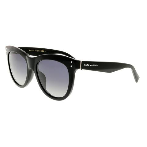 901b60dfe0906 Marc Jacobs MARC 118 S 0807 WJ Black Round Sunglasses - 54-19-