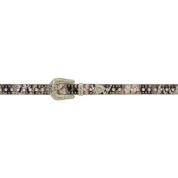 Angel Ranch Western Belt Womens Leather Crystals Studs Camo