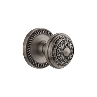 Grandeur NEWWIN_DD_NA  Newport Solid Brass Rose Dummy Door Knob Set with Windsor Knob