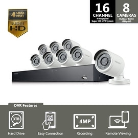 SNK-D5081 - Samsung 16 Channel 4 Megapixel Super HD NVR Security System