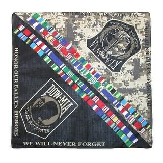 CTM® POW MIA KIA WIA Military Bandana - Multi-Color - One Size