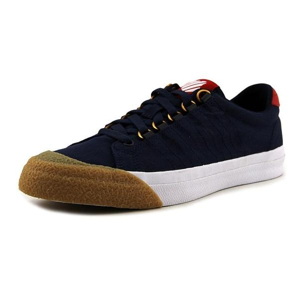 K-Swiss Irvine Men Round Toe Canvas Blue Sneakers